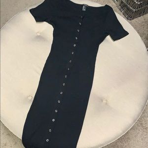 Forever 21 Black ribbed dress size small